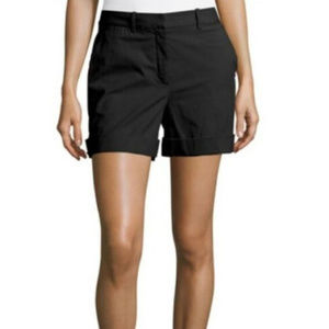 Theory Womens Shorts Linen Blend Size 6 Black